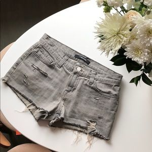 J Brand Mid-rise Cut off Shorts